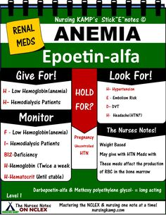 Anemia is the Result of Kidney Disease