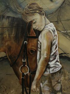 "Saatchi Online Artist Jessica Watts; Mixed Media, ""Cowboy"" #art"