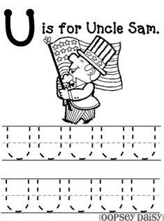ZZ Alphabet Worksheet - Letter u | Alphabet tracing worksheets ...