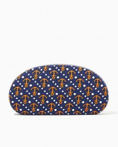 Anchor and Stripe Glasses Case