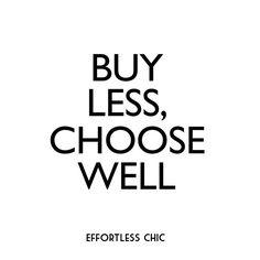 Compra menos, elige bien. #EffortlessChicOfficial