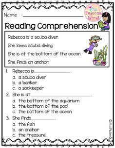 June Reading Comprehension is suitable for Kindergarten students or beginning readers. This product is helping children First Grade Worksheets, Free Kindergarten Worksheets, Kindergarten Reading, First Grade Reading Comprehension, Reading Comprehension Worksheets, Quotes For Students, Education Quotes, Phonics, Teaching