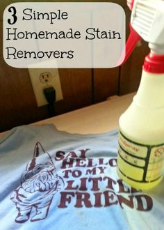 3 Simple Homemade Stain Removers You Can Make