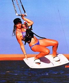Rachel Baglin - hot and talented female kiteboarder! Made www.adoscool.com | Ados Cool!
