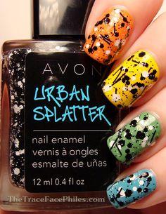 Avon Urban Splatter - Blackout. #fingernails