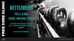 Learn how to maximize our specialized strength equipment on Tuesday, July 29th with Kettlebells! No registration is required but space is limited so be sure to arrive early to secure yourself a spot!