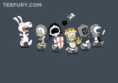 Run Away! Run Away! by queenmob - Shirt sold on May 10th at http://teefury.com - More by the artist at http://www.facebook.com/jungshirts