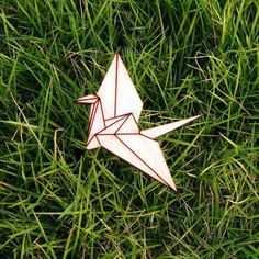 Super Cute Laser Cut and Engraved Wooden Origami Bird Brooch Origami Swan, Origami Bird, Natural Accessories, Wedding Accessories, Crane Bird, Wooden Jewelry, Super Cute, Badges, Brooches