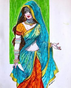 Sexy Painting, Figure Painting, Tango Art, Rajasthani Art, Indian Illustration, Comic Art Girls, Africa Art, India Art, Indian Art Paintings