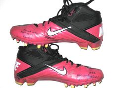 8be714fc0 Dane Fletcher New England Patriots Game Worn   Signed Breast Cancer  Awareness Pink Nike Cleats Pink