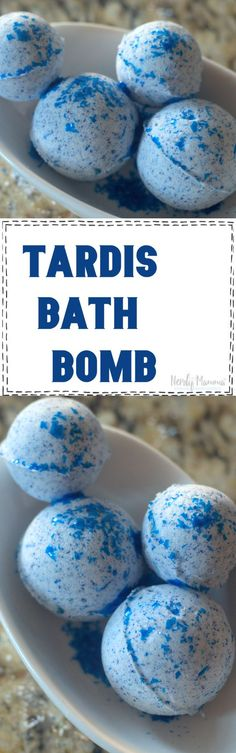 If so, then they would jump for joy over these Tardis Bath Bombs. They simply are the perfect Dr. Who fan gift. #DrWho #Tardis #bathbomb