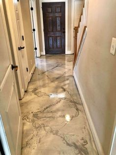 Italian Marble Epoxy Floor - Harrisonburg Epoxy Floor - Harrisonburg, VA - There& no . - Epoxy ideas - Italian Marble Epoxy Floor – Harrisonburg Epoxy Floor – Harrisonburg, VA – There& no pl - Diy Flooring, Kitchen Flooring, Flooring Options, Flooring Ideas, Epoxy Sol, Epoxy Floor Basement, Epoxy Floor Diy, Epoxy Concrete Floor, Stained Concrete Flooring
