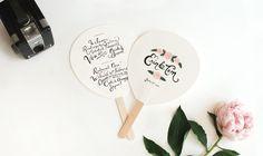 Custom wedding programs fans - perfect for hot weather! Unique Wedding Programs, Wedding Program Fans, Fan Programs, Handmade Wedding, Diy Wedding, Wedding Ideas, Wedding Bells, Garden Wedding, Dream Wedding