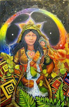 """""""Mother earth constantly whispers to us,  listen intently .""""  ****************** """" La Madre Tierra susurra constantemente para nosotros, escuchar con atención. """"  Artist:   Eva Ruiz Title:  'Pachamama'  <3 lis"""