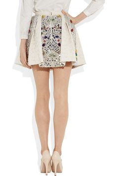 Dolce y Gabbana crystal embellished jacquard skirt. - Id frame it and back light it and hang it on my wall...