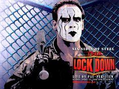 Wallpaper of Sting - Lockdown for fans of Sting WCW 123472 Global Force Wrestling, Wrestling Wwe, Sting Wcw, Wwe Wrestlers, Professional Wrestling, Music Tv, The Man, Nostalgia, Undertaker