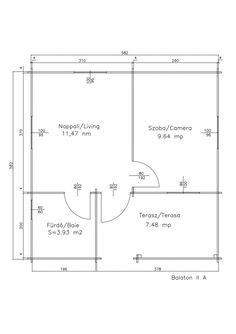 Korondi Árcsó - Balaton 2A Line Chart, Floor Plans, Diagram, Home Architecture, Floor Plan Drawing, House Floor Plans