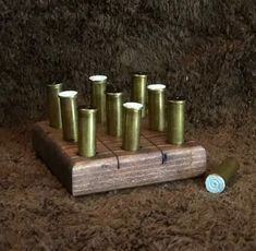 Bullet casing game pieces, solid wood board stained, inches easy to carry perfect for a man cave Hunting Crafts, Tic Tac Toe Board, Bullet Casing, Game Pieces, Solid Wood, Handmade, Image, Etsy, Hand Made