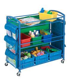 Look what I found on #zulily! Blue All-Purpose Teaching Cart #zulilyfinds