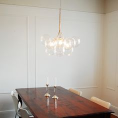 Obsessed with their lighting...PELLE — Large Bubble Chandelier