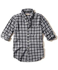 Camisa Hollister Masculina Xadrez CHECK - Preta e Branca - Figo Verde: Roupas importadas originais