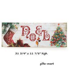 NOEL CHRISTMAS welcome sign LED lighted print wall hanging art night light lamp #genericchristmasholidaylightsdecoration #decorativeart