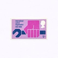 International Labour Organisation 1919 | 1969 (1/-). Great Britain, 1969. Design: Philip Sharland. #mnh #graphilately
