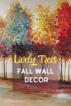 Easily warm up the vibe in your home with this charming trees wall art piece. Ideal for fall wall decor but obviously is fantastic to use any time of year. You will appreciate the bold pop of color this will bring to your drab wall space. Metal Wall Sculpture, Wall Sculptures, Tree Wall Art, Wall Art Decor, Interior Design Themes, Autumn Trees, Cool Walls, Wall Design, Warm