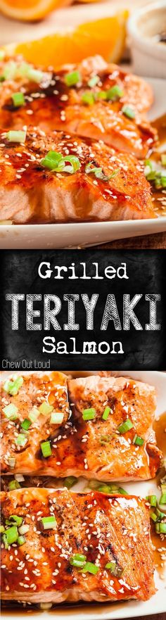 The BEST Teriyaki sauce you'll ever put on any grilled food. Super easy, healthy, tender, and crazy good. #teriyaki #salmon #grilled by kaye