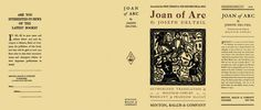 Joan of Arc by Joseph Delteil on Facsimile Dust Jackets, LLC Doll House Crafts, Joan Of Arc, Latest Books, Diy Dollhouse, Little Books, Mini Books, Have Time, Biography, Book Covers