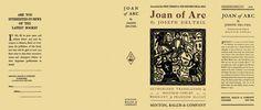Joan of Arc by Joseph Delteil on Facsimile Dust Jackets, LLC