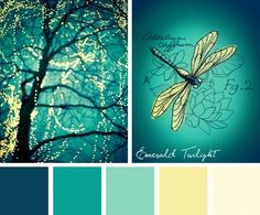 Color Inspirations – Emerald Twilight