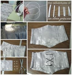The Adventures of An Elven Princess: [Battle] Tauriel Cosplay. Silver brocade wa - Waist Cincher - Ideas of Waist Cincher - The Adventures of An Elven Princess: [Battle] Tauriel Cosplay. Silver brocade waist cincher made with zip tie boning. Tauriel, Clothes Crafts, Sewing Clothes, Barbie Clothes, Dress Sewing Patterns, Clothing Patterns, Fashion Sewing, Diy Fashion, Fashion Outfits