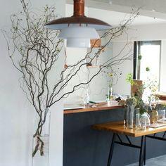 hamakajiさんの、ガラスの花器,IKEA,ルイスポールセン,雲竜柳,部屋全体,のお部屋写真