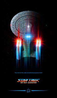 Star Trek, by Lewis Niven - Star Trek, by Lewis Niven - Star Trek Wallpaper, Science Fiction, Star Trek Posters, Starfleet Ships, I See Stars, Star Trek Images, Star Trek Characters, Star Trek Series, Star Wars