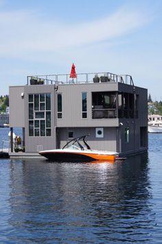 Последнее «ноу-хау» модульных домов – это дом на воде