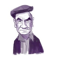 Sketch/Character Design of an old man by Rich Lauzon