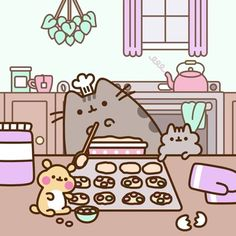 We've got a new sweet recipe coming out tomorrow with @GeniusKitchen! Check in tomorrow to see what's on the menu #pusheen #geniuskitchen #bakedgoods #bakerlife