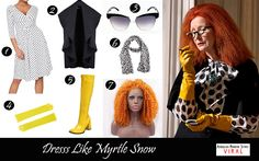 Myrtle Snow Outfit: Polka Dots and Yellow
