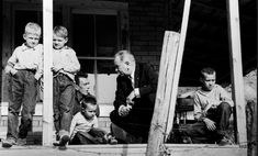 President Lyndon Baines Johnson visit to Tom Fletcher's home in Kentucky was part of a tour of poverty stricken areas of the U.S. (Photo by ...