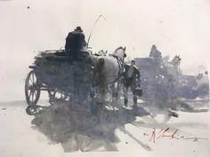 Joseph Zbukvic, Vicenza sketch show Watercolor Artists, Watercolor Landscape, Abstract Watercolor, Artist Painting, Watercolour Painting, Artist Art, Landscape Paintings, Watercolours, Joseph Zbukvic