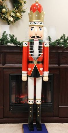 like a toy soldier come to life our remote controlled 5 foot life size nutcracker life size metal nutcracker holiday accent indoor holiday decorations