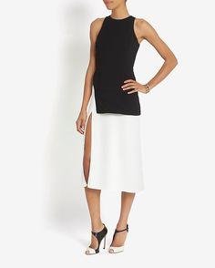 A.L.C. Mer Slit Colorblock Dress   Shop IntermixOnline.com