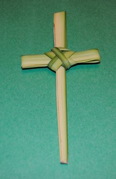 Celebrating Lent: Holy Week–Palm Sunday / link to how to make palm crosses