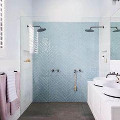 The 30 Second Trick For Shower Tile Designs Walk In Color Schemes 65 Classic Bathroom, Modern Bathroom, Bathroom Black, Contemporary Bathrooms, Master Shower, Master Bathroom, The Block Bathroom, Bathroom Renos, Bathroom Interior