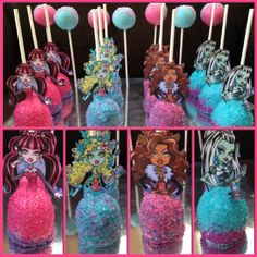 Monster High Cake Pops Monster High Party by BangPOPshop on Etsy, $26.00