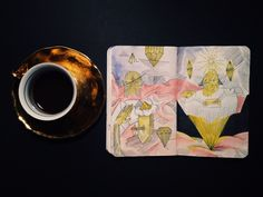 Coffee and sketchbook