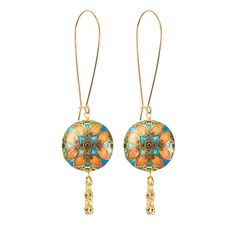 Symbolic of youth and playfulness, these earrings will give you a romantic look. I love the look of these earrings, the colors are so strong and eye catching, but the details are so soft, romantic and delicate.
