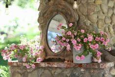 5 minute decorating- Bottles, Books and Blooms on the mantel - FRENCH COUNTRY COTTAGE