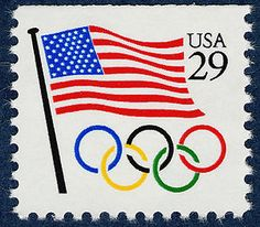 Having heard only seven months before that Atlanta would host the 1996 Summer Olympic Games, the United States Postal Service issued this patriotic Olympic stamp in 1991.